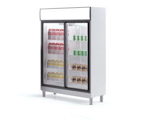 dubbele glasdeur koelkast