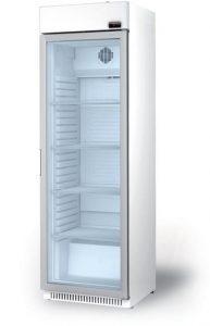 glasdeur koelkast met lichtbak serie 600