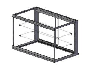 rechthoek glasopbouw koelmeubel alaska