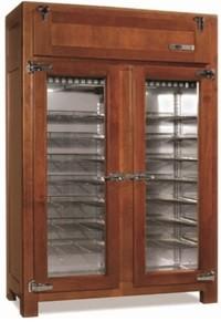 retro koelkast voor gebak 2 deurs