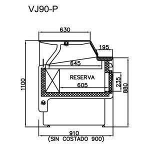 vitrina-frigorifica-vJ90-medidas