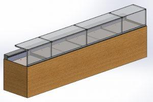 alaska inbouw koeltoonbank 3 d met onderbouw