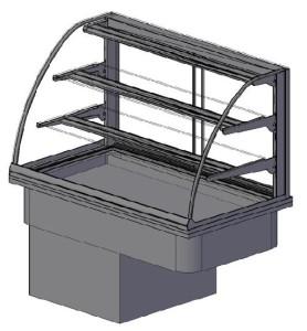 koelbak met glasopbouw